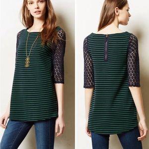 Anthropologie Postmark Forest Stripe Tunic/Sweater